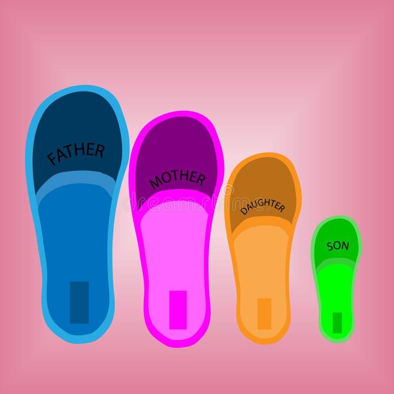 4 пары ботинок стоковое фото rf