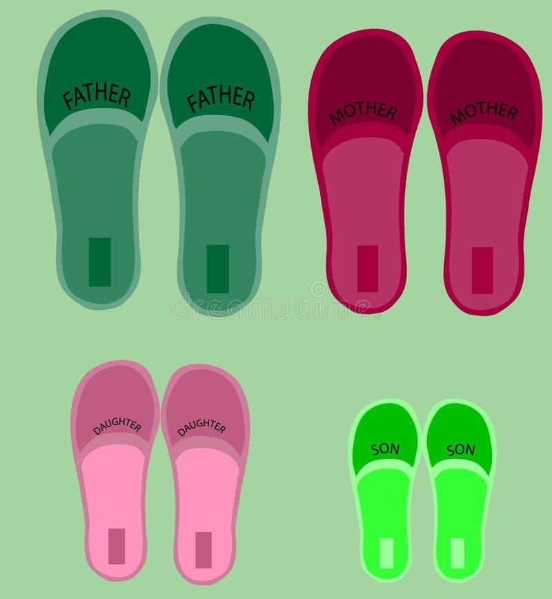 4 пары ботинок стоковая фотография rf