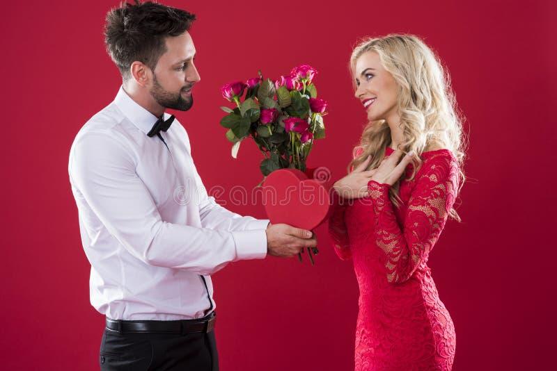 Пары валентинок стоковое изображение