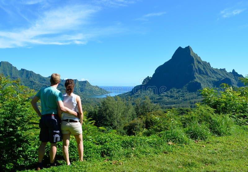 Пары в Французской Полинезии стоковые изображения rf