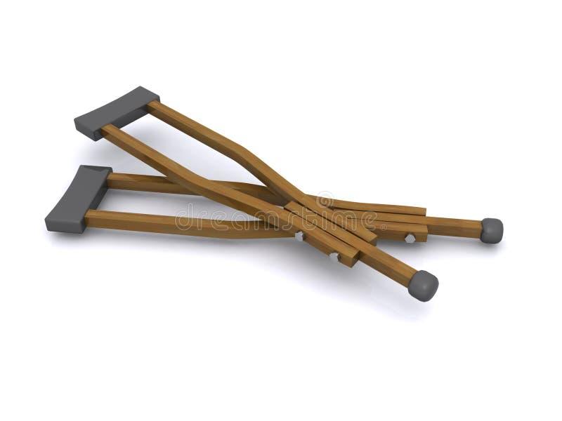 Пары деревянных костылей стоковое изображение rf