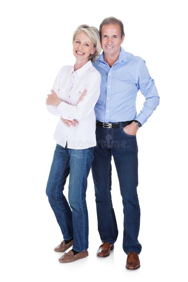 пары зреют портрет стоковое изображение rf