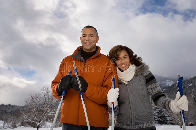 пары зреют портрет стоковая фотография rf