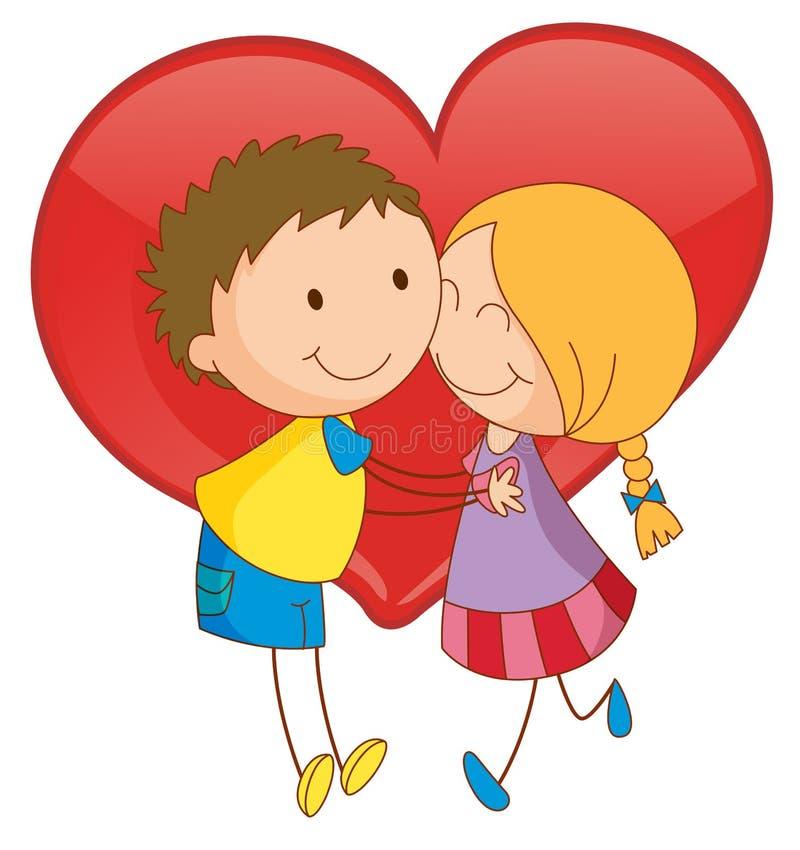 Пары и сердце бесплатная иллюстрация