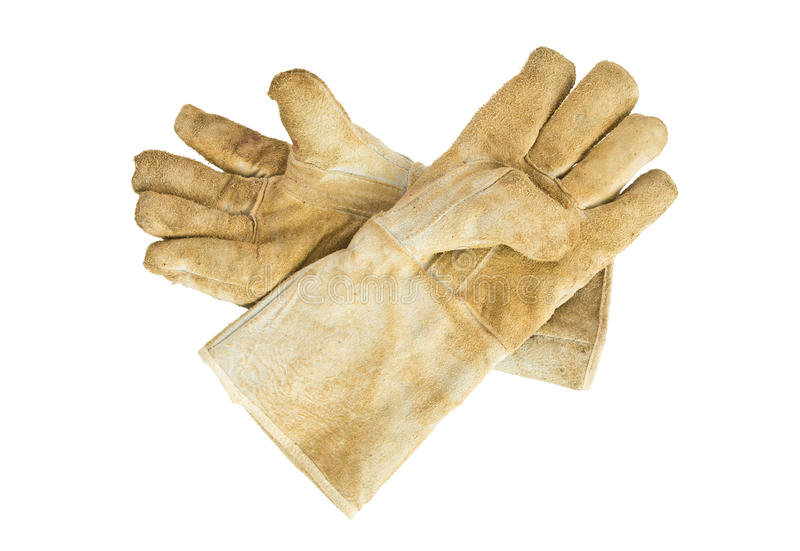 Пары кожаных перчаток стоковая фотография