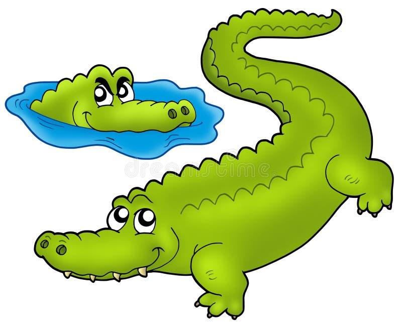 пары крокодилов шаржа иллюстрация штока