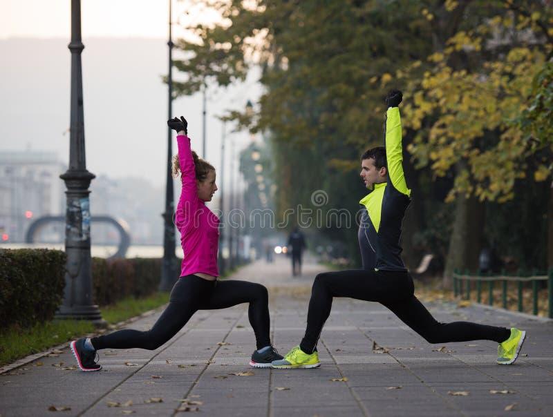 Пары нагревая перед jogging стоковое изображение rf