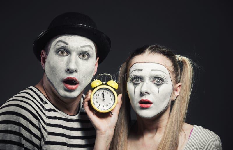 Пары пантомим стоковые фотографии rf