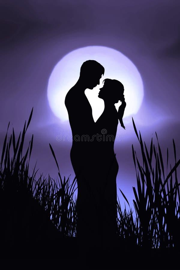 пары романтичные иллюстрация вектора