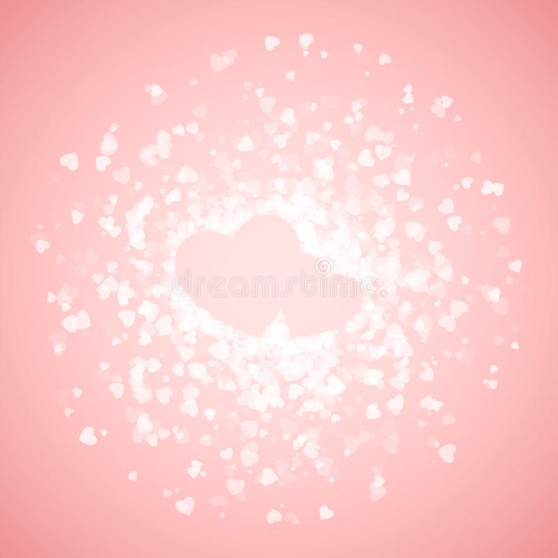 Пары сердец выровнянных с confetti вектор Валентайн иллюстрации s сердца зеленого цвета dreamstime конструкции дня карточки стили иллюстрация вектора