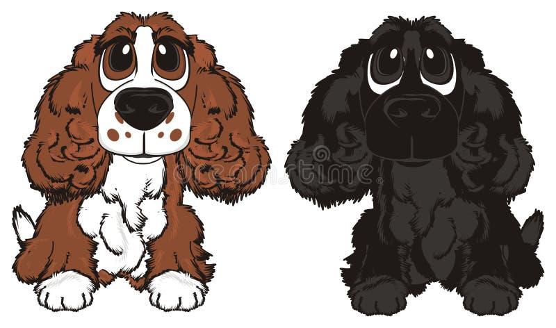 Пары собак иллюстрация вектора