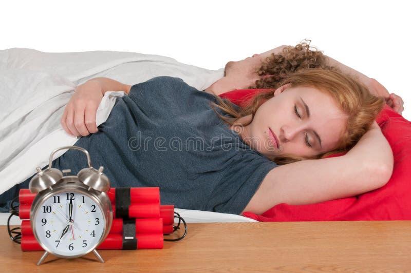 Пары спать стоковые фотографии rf