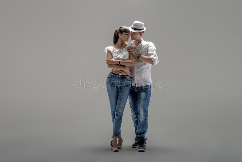 Пары танцуя социальное danse стоковые изображения rf