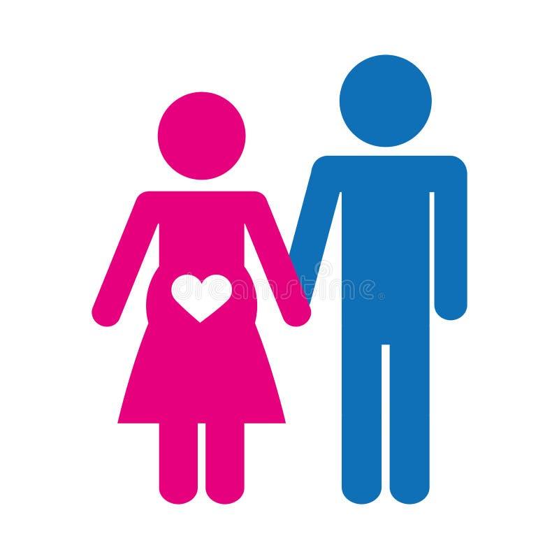 Download Пары укомплектовывают личным составом и изображение значка женщины Иллюстрация вектора - иллюстрации насчитывающей иллюстрация, конструкция: 81800569