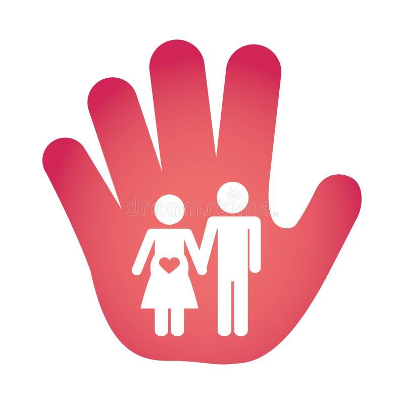 Download Пары укомплектовывают личным составом и изображение значка женщины Иллюстрация вектора - иллюстрации насчитывающей страсть, форма: 81800573