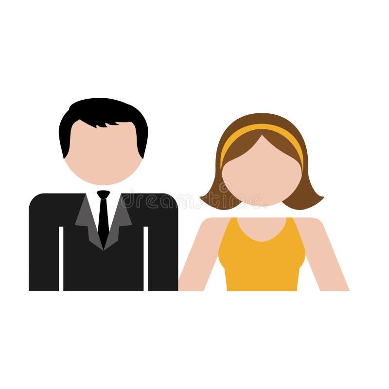 Download Пары укомплектовывают личным составом и изображение значка женщины Иллюстрация вектора - иллюстрации насчитывающей карточка, красивейшее: 81800668