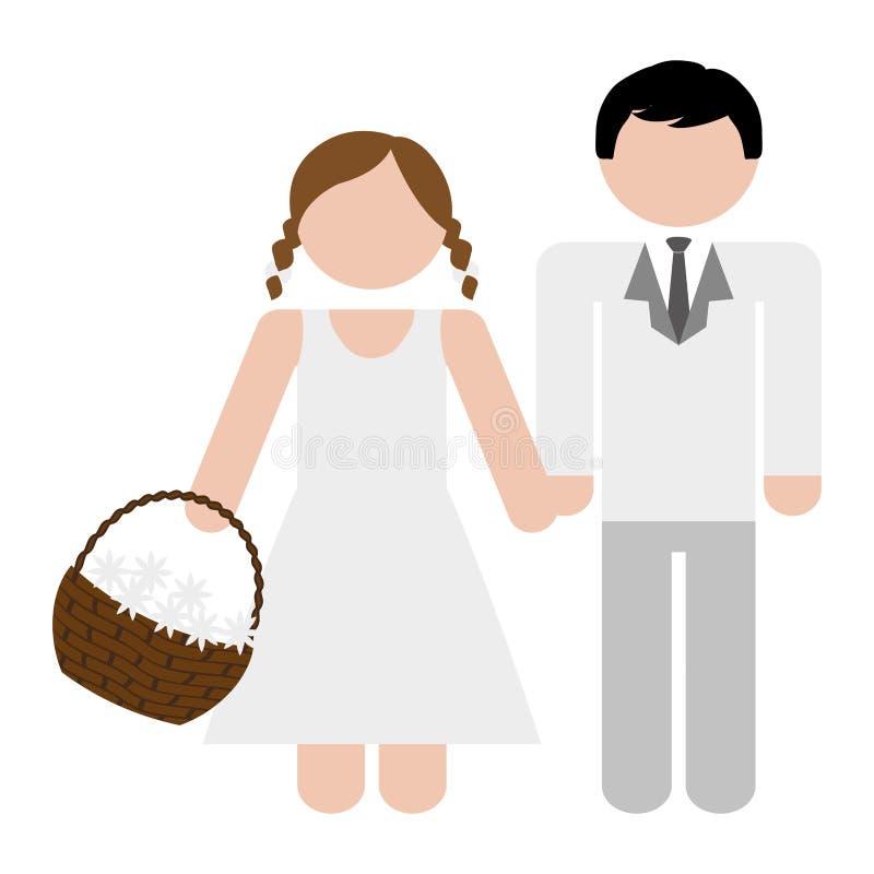 Download Пары укомплектовывают личным составом и изображение значка женщины Иллюстрация вектора - иллюстрации насчитывающей торжество, знак: 81800769