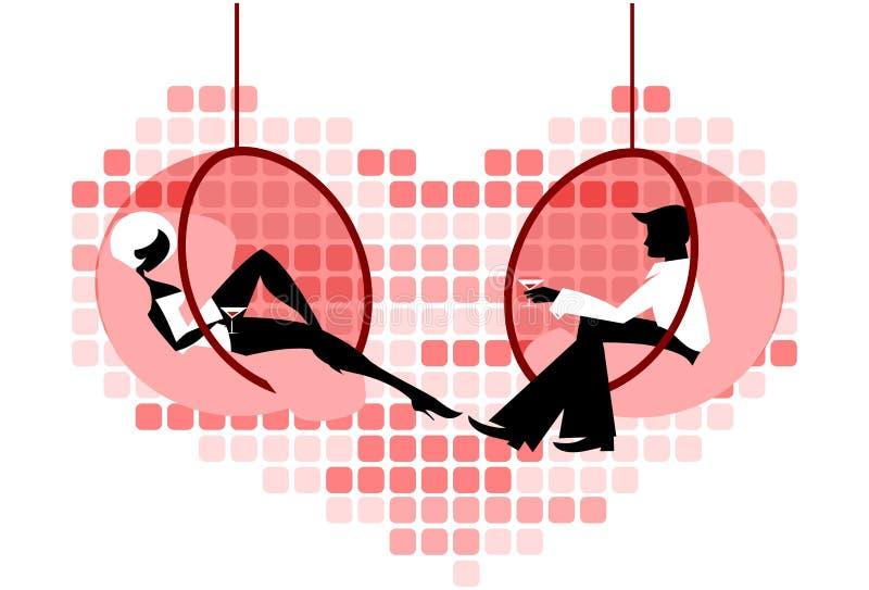 пары flirting бесплатная иллюстрация