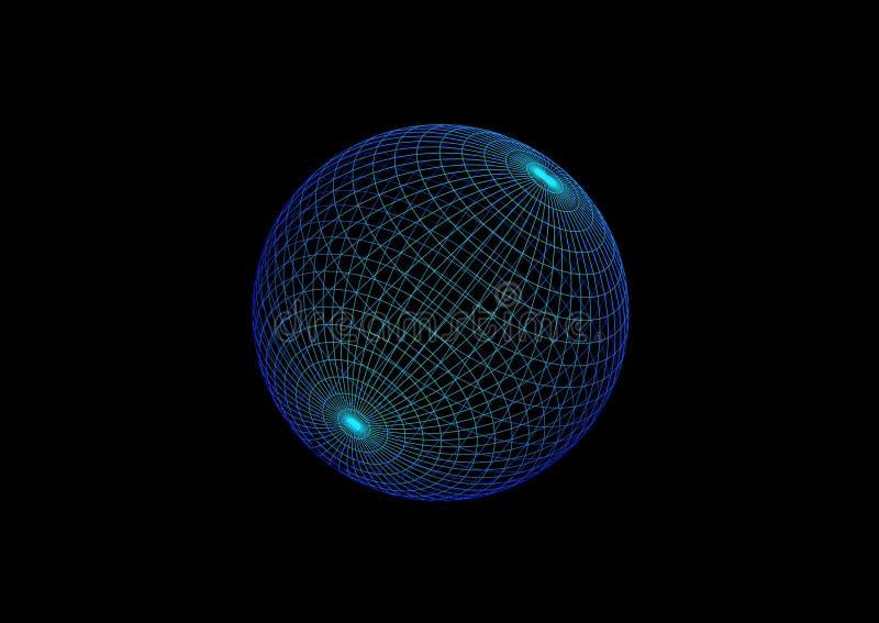 парящая сфера иллюстрация штока