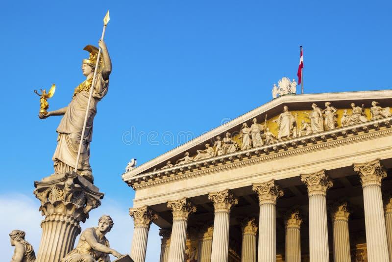 Парламент Австрии в вене стоковая фотография rf