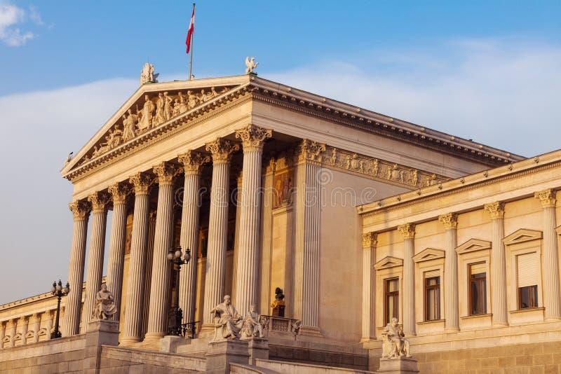 Парламент Австрии в вене стоковые изображения