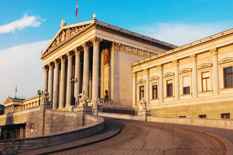 Парламент Австрии в вене стоковые изображения rf