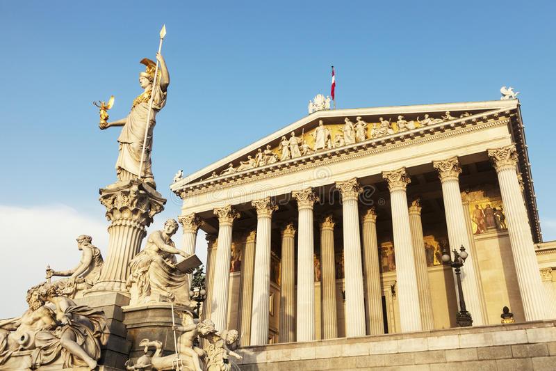 Парламент Австрии в вене стоковое фото rf