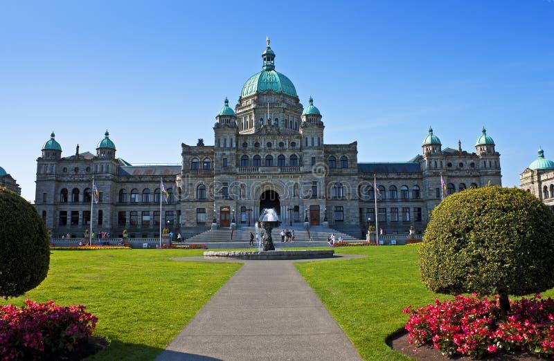 Парламент Британской Колумбии стоковое изображение rf