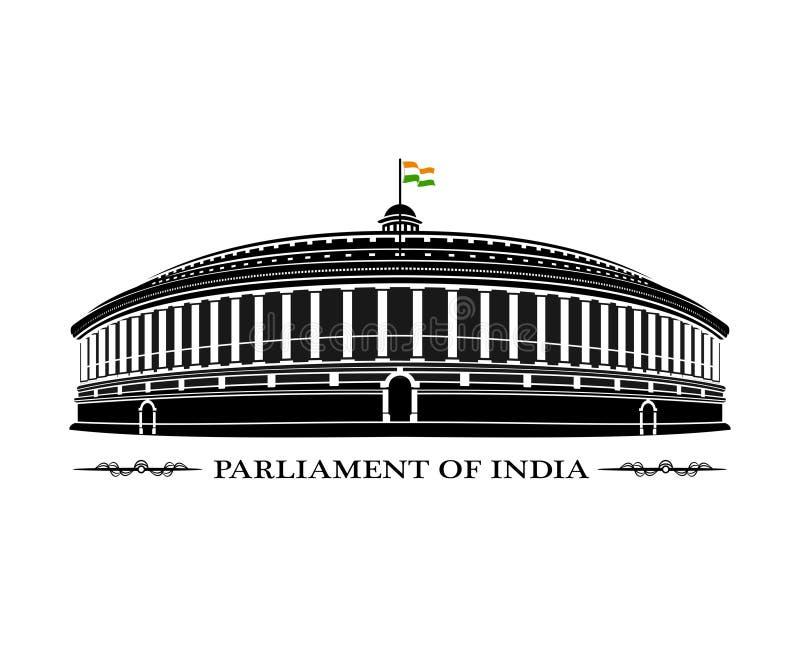 Парламент Индии стоковое изображение rf