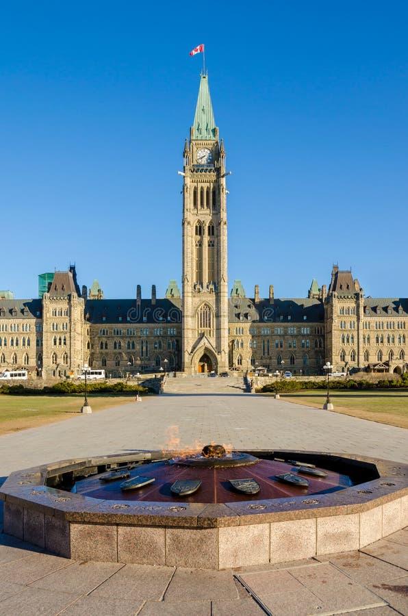 парламент Канады ottawa здания стоковые изображения rf