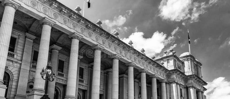 Парламент Мельбурна расквартировывает в Виктории стоковое изображение rf