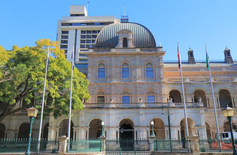 Парламент расквартировывает историческую архитектуру Брисбен Австралию стоковое изображение rf