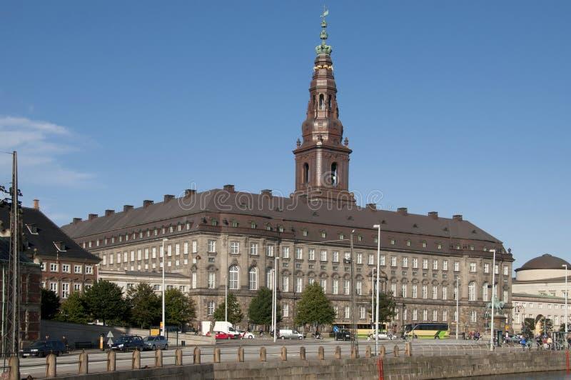 Парламент Christiansborg Kopenhagen Slotsholmen датский стоковые фото