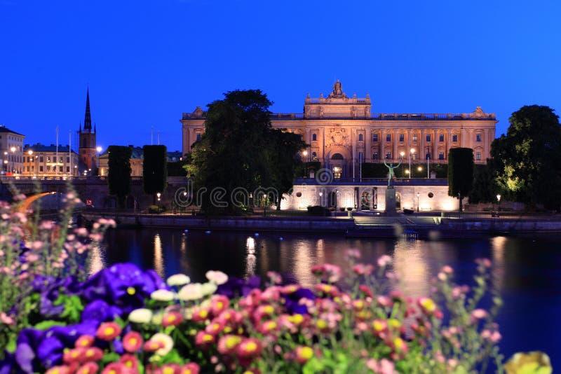 парламент stockholm дома стоковое изображение rf