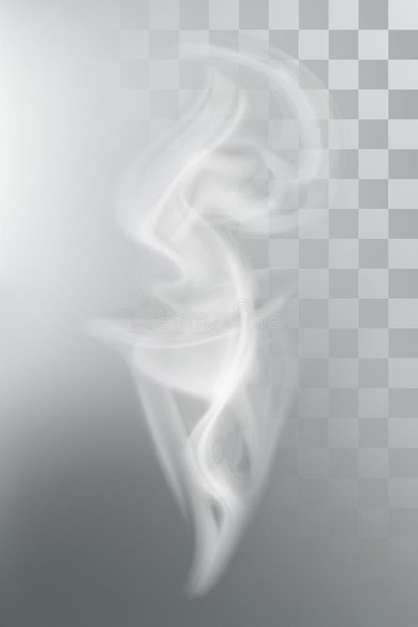Пар ароматности дыма иллюстрация вектора