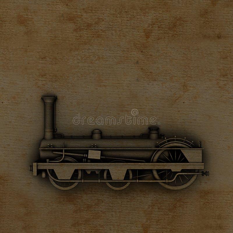 пар двигателя иллюстрация штока