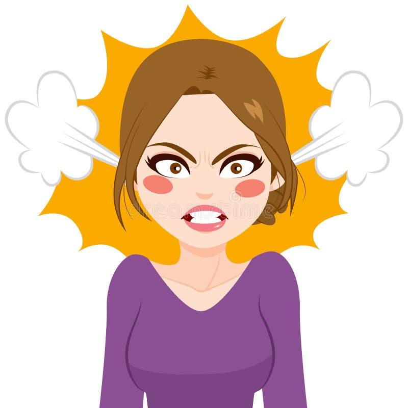 Пар женщины сердитый бесплатная иллюстрация