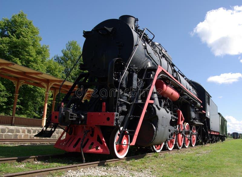 пар музея паровозов haapsalu стоковые изображения