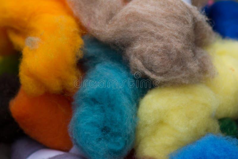 Пасма Сolored шерстей стоковые фотографии rf