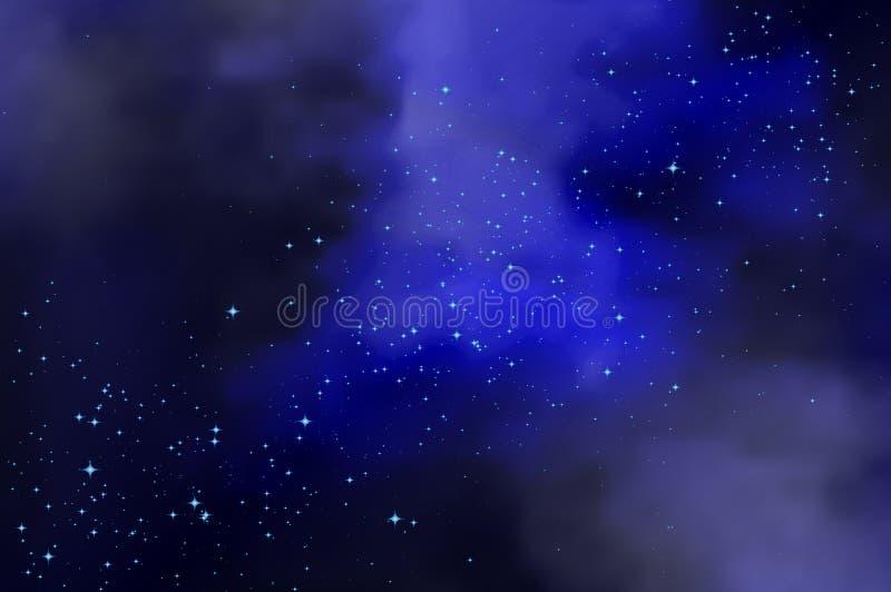 Пасмурное небо звездной ночи бесплатная иллюстрация