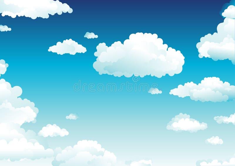 пасмурное небо иллюстрация вектора