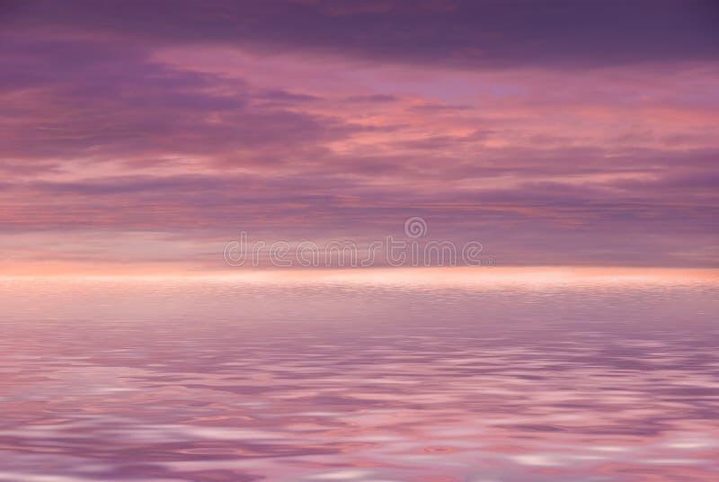 пасмурное розовое небо стоковое фото rf