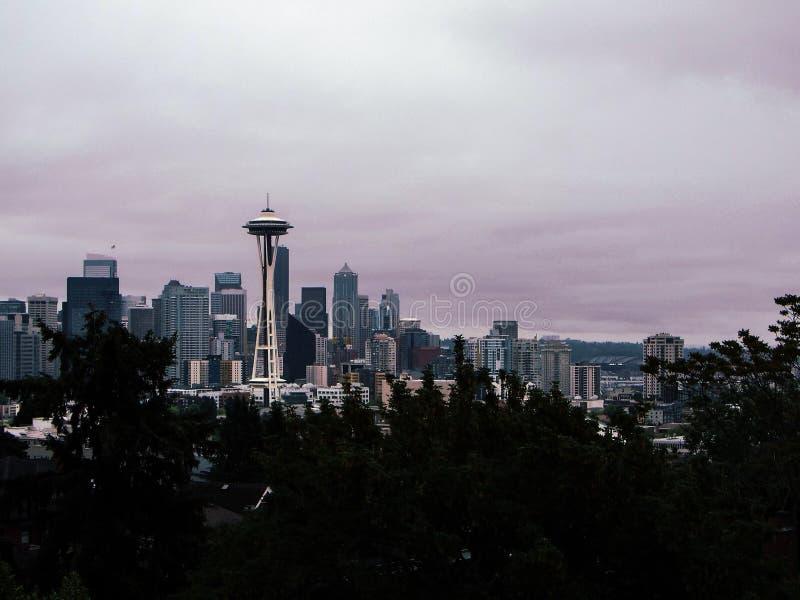 Пасмурный день в Сиэтл стоковая фотография rf