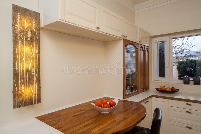 Кухня пасмурного дома функциональная стоковое изображение