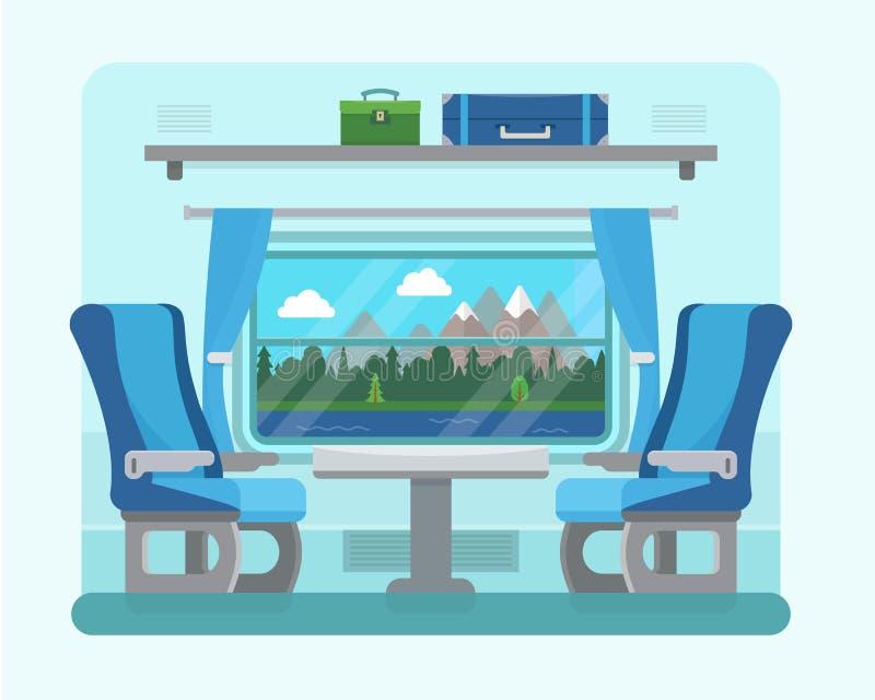 Пассажирский поезд внутрь иллюстрация штока