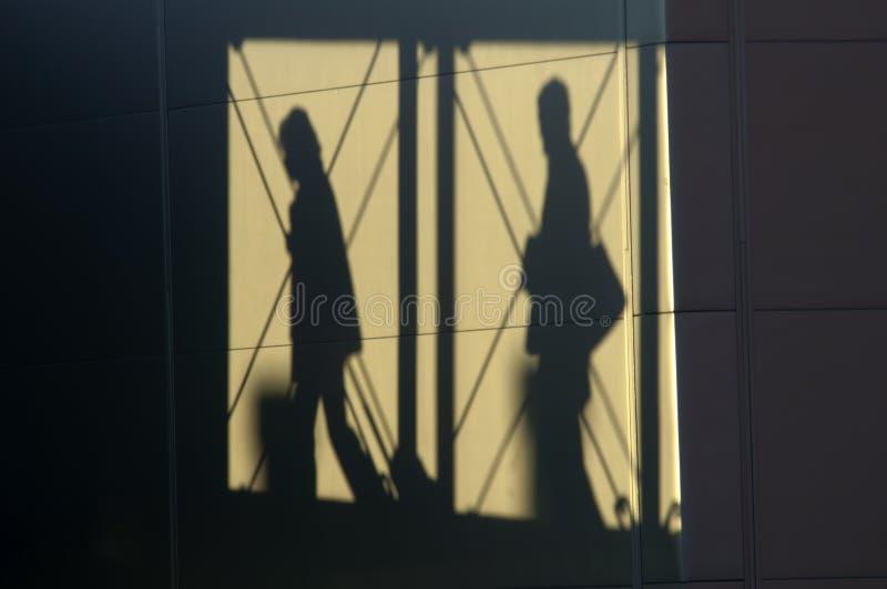 Пассажиры тени стоковые фото