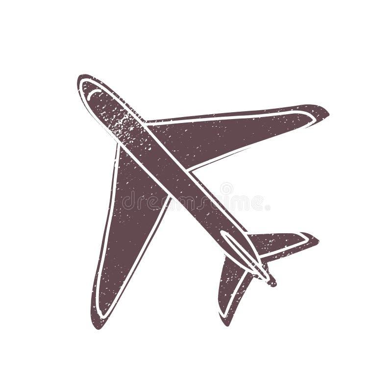 Пассажир или авиалайнер или гражданские самолеты груза изолированные на белой предпосылке Плоский, слон - летание двигателя или с бесплатная иллюстрация
