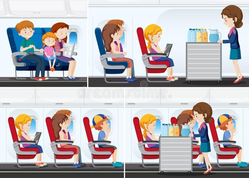 Пассажир на самолете бесплатная иллюстрация