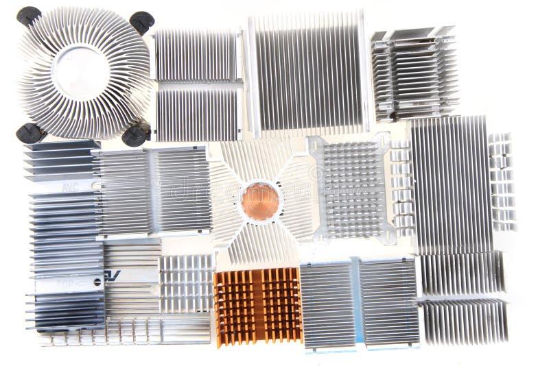 пассивные охладители C.P.U. стоковая фотография rf