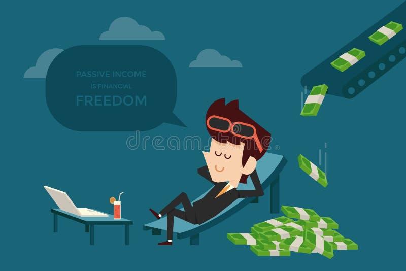 Пассивный доход бесплатная иллюстрация